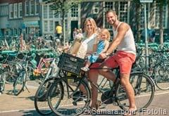 Familie in Amsterdam