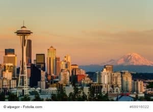 Seattle und Mount Rainier